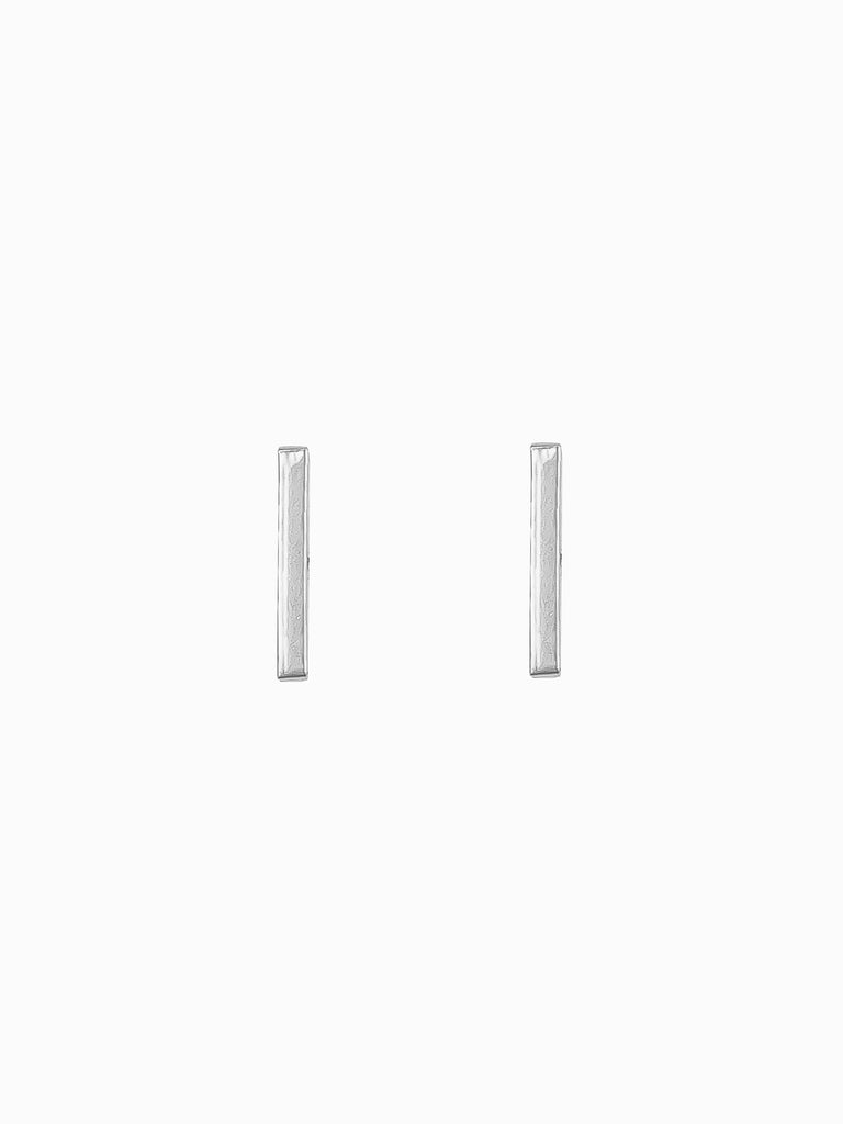 Thin Bar Stud Earrings