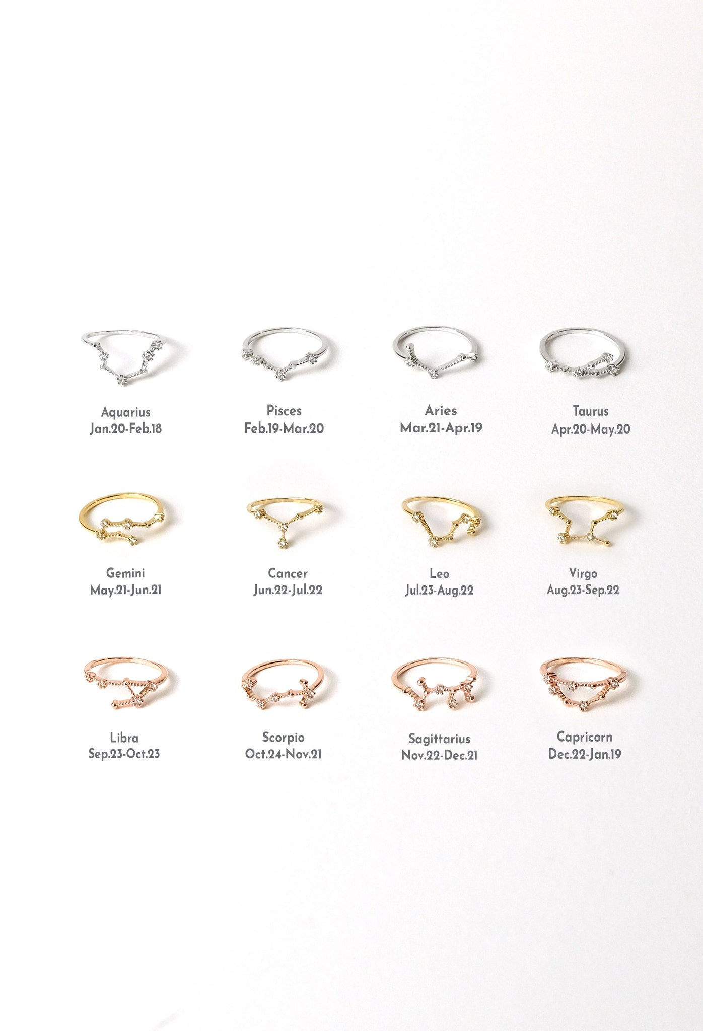 Constellation Zodiac Ring