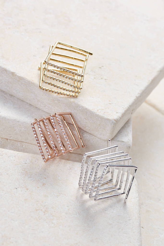 Slinky Multi Band Statement Ring