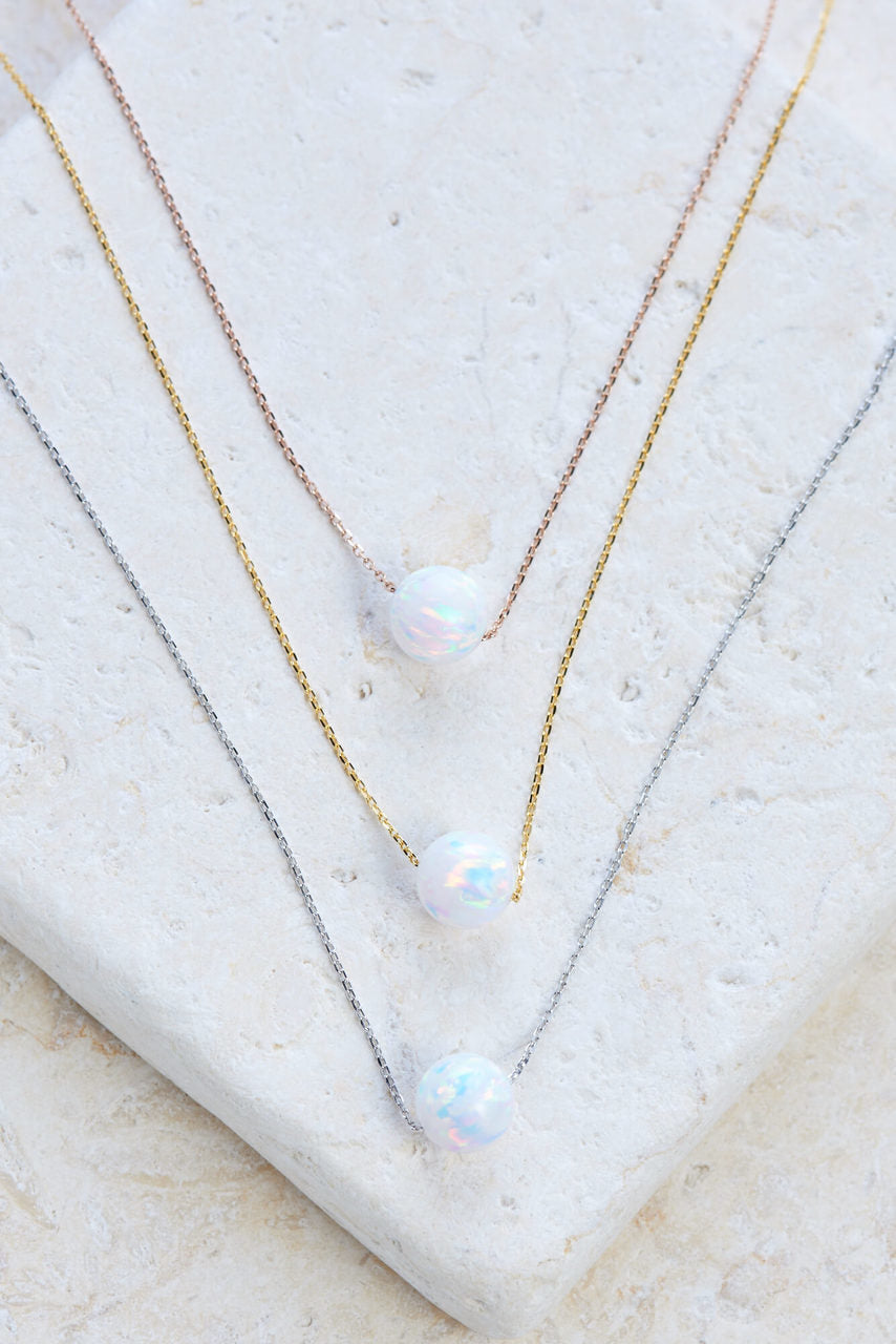 Star Drop Opal Necklace