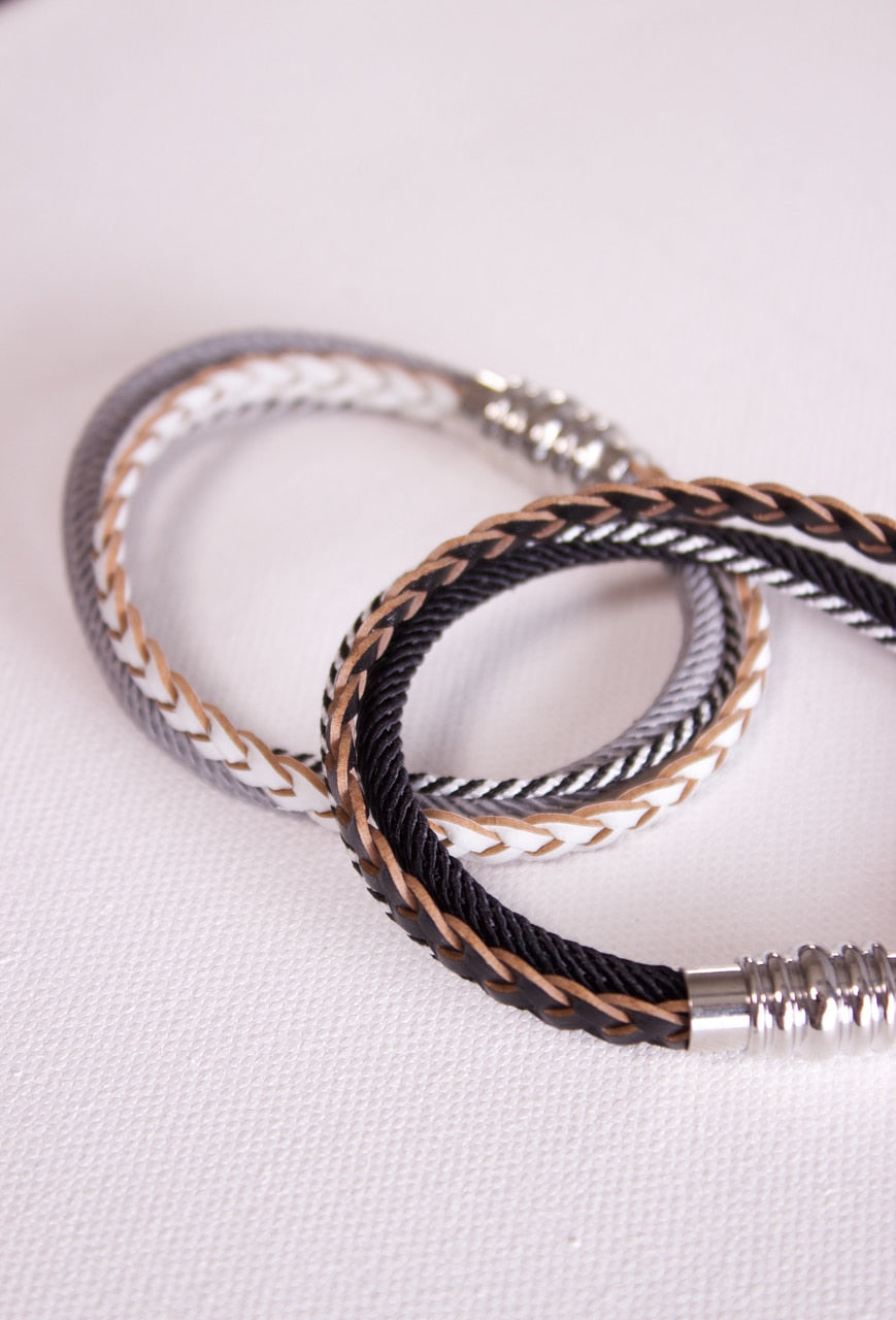 Women's Layered Leather Bracelet