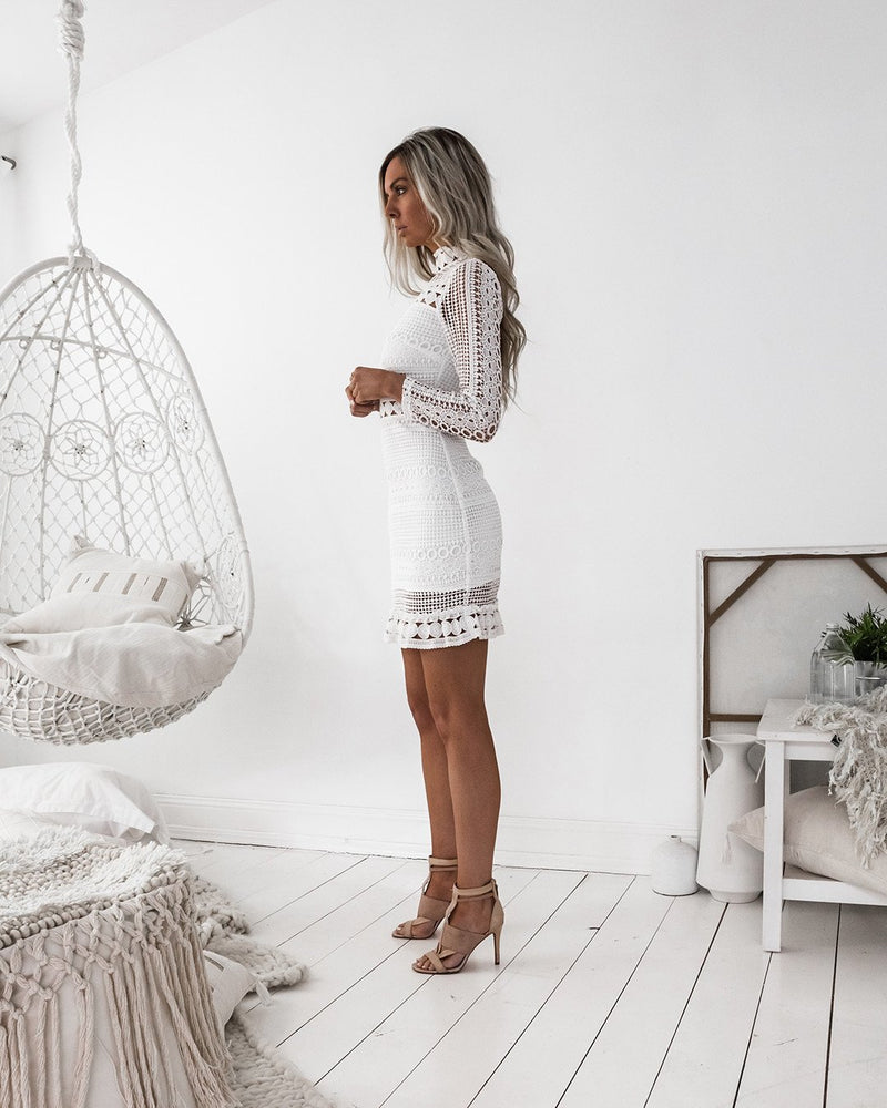 Riverdale Dress - White - Dress Hire NZ