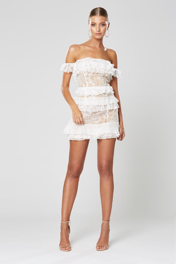 Winona Romance Mini Dress - Dress Hire NZ