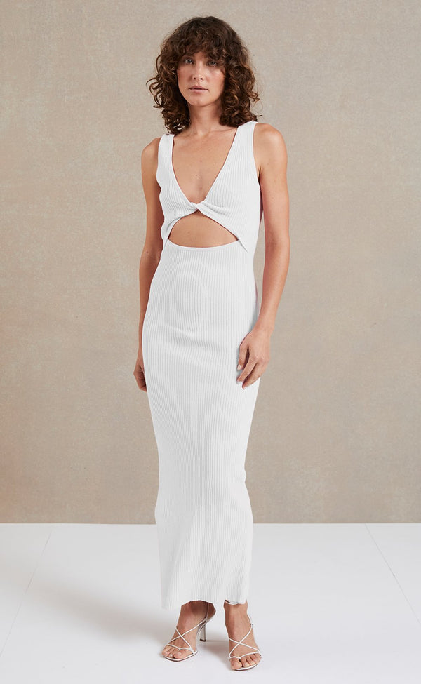 Bec & Bridge Riviera Knit Midi - Ivory - Dress Hire NZ
