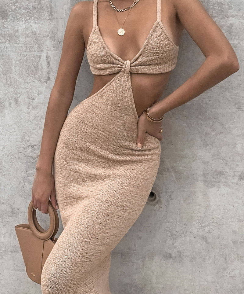Cult Gaia Serita Dress - Sand - Dress Hire NZ