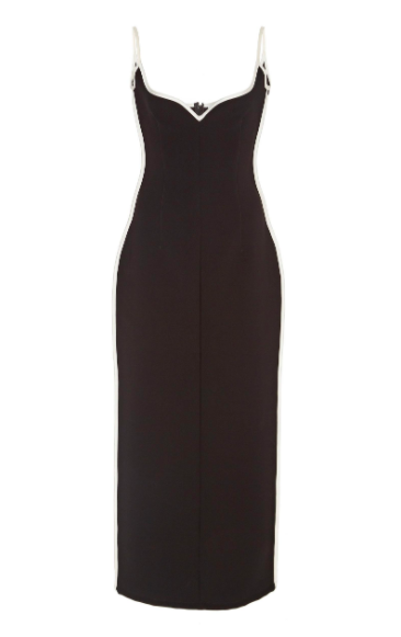 PARIS GEORGIA HEART DRESS - BLACK - Dress Hire NZ