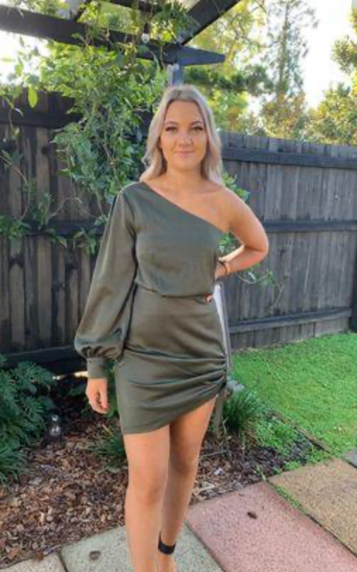 Kookai Vangeline Dress - Khaki - Dress Hire NZ