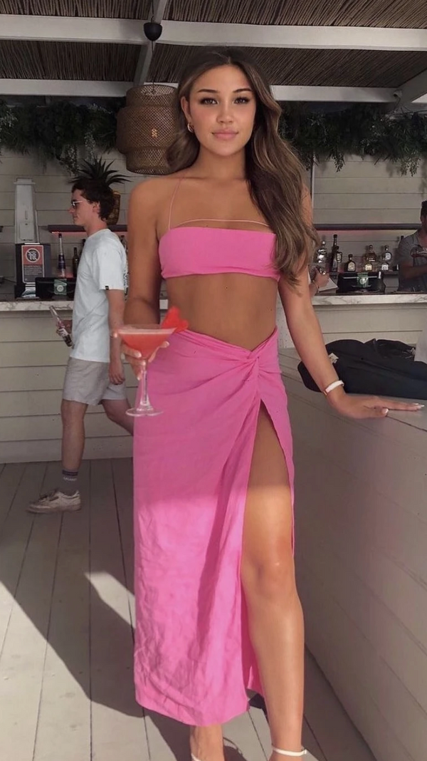 Natalie Rolt Kylie Set - Candy Pink - Dress Hire NZ