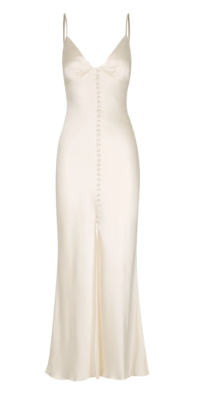 Shona Joy La Lune Bias Slip Dress - Cream - Dress Hire NZ
