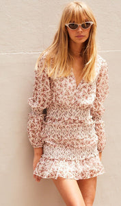 The East Order Behati Mini Dress - Floral Rose - Dress Hire NZ