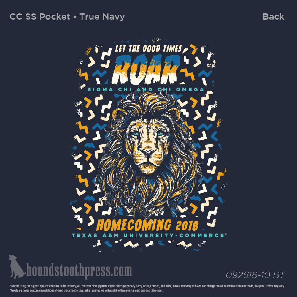 Chi Omega Texas Am University Commerce Homecoming 2018 Tendencies Tshirt Monday To Long Navy S Load Image Into Gallery Viewer Aampm