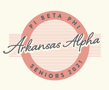 Load image into Gallery viewer, Pi Beta Phi University of Arkansas Senior T-Shirt 2020 Design