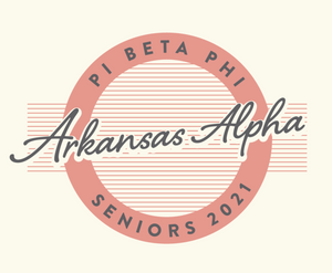 Pi Beta Phi University of Arkansas Senior T-Shirt 2020 Design