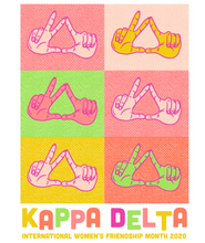 Load image into Gallery viewer, Kappa Delta Texas Tech University Hand Sign Design 2020