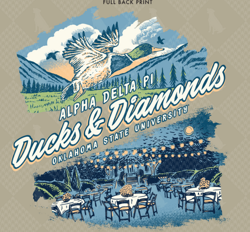 Alpha Delta Pi Oklahoma State University Ducks and Diamonds Design