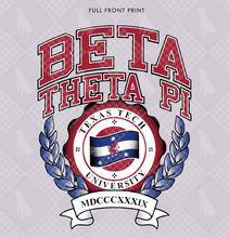 Load image into Gallery viewer, Beta Theta Pi Texas Tech Crewneck Design 2019