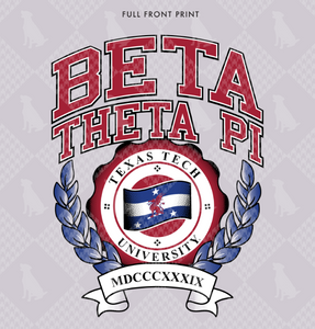 Beta Theta Pi Texas Tech Crewneck Design 2019