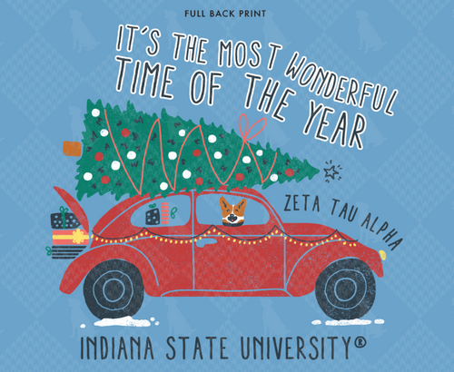 Zeta Tau Alpha Indiana State University Christmas Design 2019
