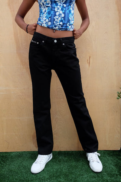 VINTAGE CALVIN MOM JEANS BLACK