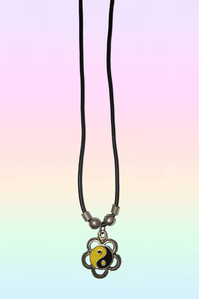 FLOWER POWER YIN YANG NECKLACE