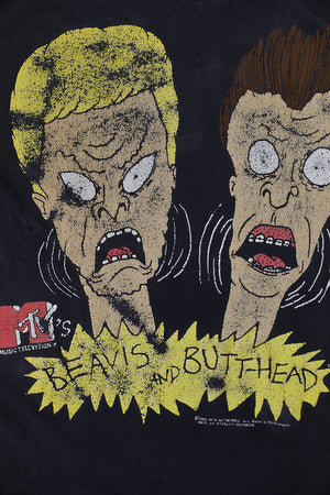 BEAVIS AND BUTTHEAD SHOKED HEADS BLACK