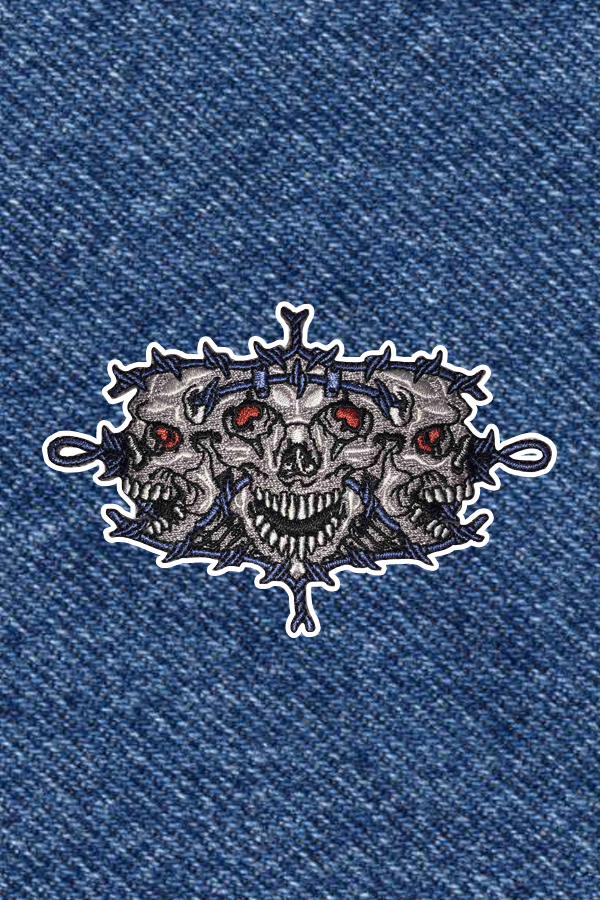 BARBED SKULLS PATCH