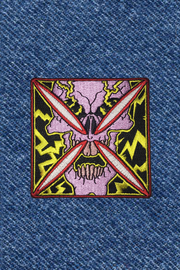 BEAMING SKULL PATCH