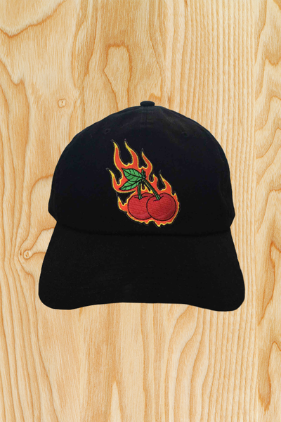 FLAMING CHERRIES HAT