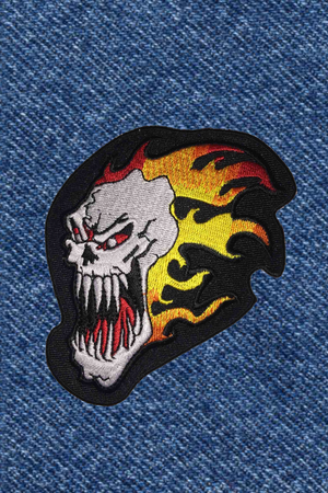 CRAZY SKULL PATCH