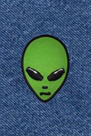 GREEN ALIEN PATCH