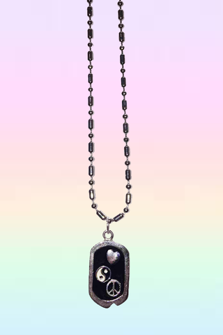 PLUR DOG TAG NECKLACE