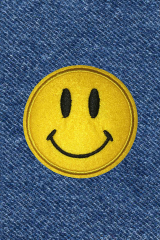 FELT SMILEY PATCH
