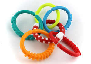 Kids Molars Ring Teether Activity Teddy chain Baby Toys