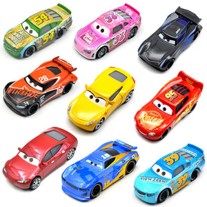 Disney Pixar 26 Style Cars 3 New Lightning McQueen Jackson Storm Smokey Diecast Metal Car Model Birthday Gift Toy For Kid Boy