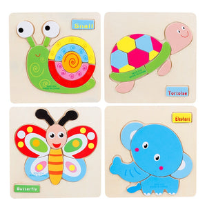 3d Baby Toys for Children Cute Animal toddler Montessori Kids Toys Boys Girls