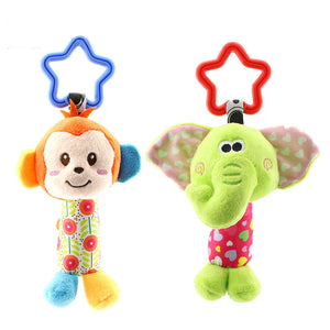 Rattle Lovely Cartoon Animal Bell Hanging Plush Baby Toy