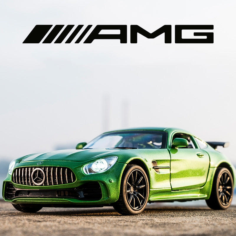 KIDAMI 1:32 Alloy  AMG GT GTR Pull Back Diecast car Model with sound light MINIAUTO Toy Vehicles toys for children oyuncak araba