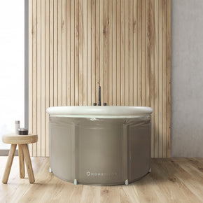 Portable Bathtub (LARGE) by Homefilos, Japanese Soaking Bath Tub for Shower Stall