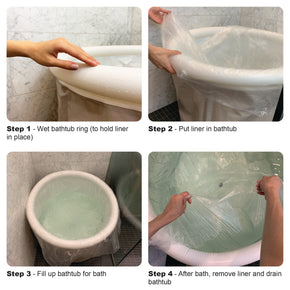 Bathtub Liners for Homefilos Portable Bathtub, Plastic Film Cover for Lining Bath Tub (10 Count)