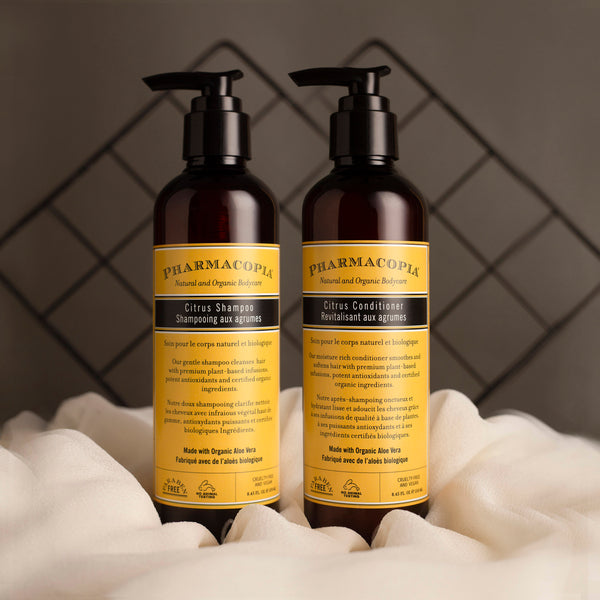 Citrus Shampoo and Conditioner hair care duo