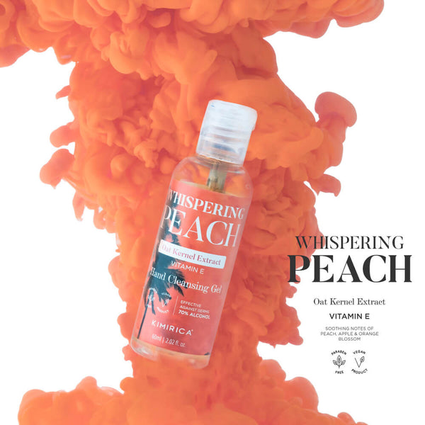 Whispering Peach Sanitizer Hand Cleansing Gel With The Goodness Of Vitamin E, Oat Kernel Extracts & Aloe Vera