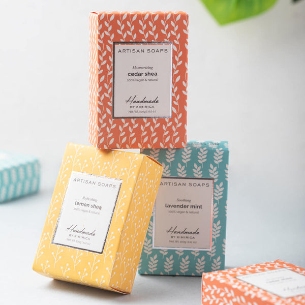 Set of 3 Hand Made Artisan Soaps to Care for Your Skin