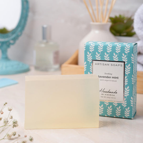 artisan soap with goodness of the lavender mint by kimirica