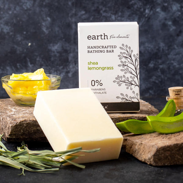 Earth Bathing Bar with Goodness of the Shea Lemongrass by Kimirica