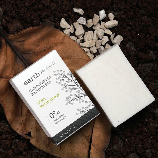 Earth Bathing Bar with Goodness of the Shea Lemongrass Kimirica