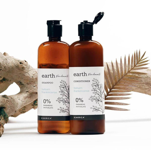 Earth hair care duo with goodness of the Balsam and Frankincense kimirica
