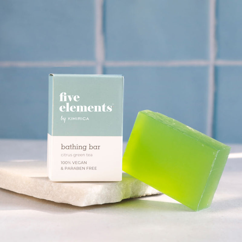 Five Elements Bathing Bar With goodness of the citrus Green Tea by Kimirica