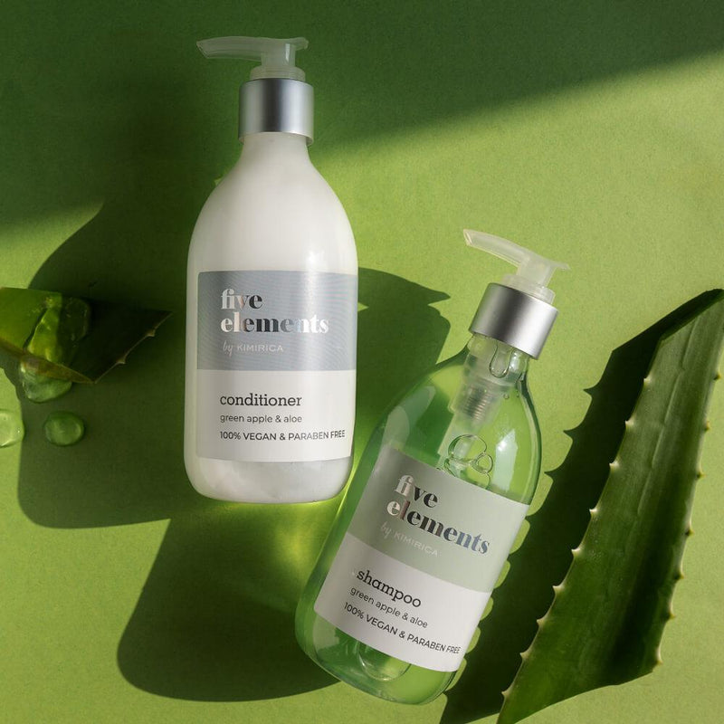 Five Elements Shampoo And Conditioner with Goodness of the Green Apple And Aloe by-kimirica