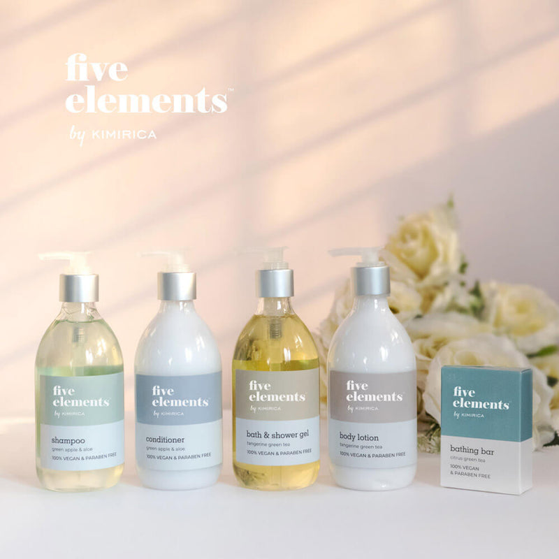 Five elements shampoo with the goodness of Green apple & aloe by Kimirica