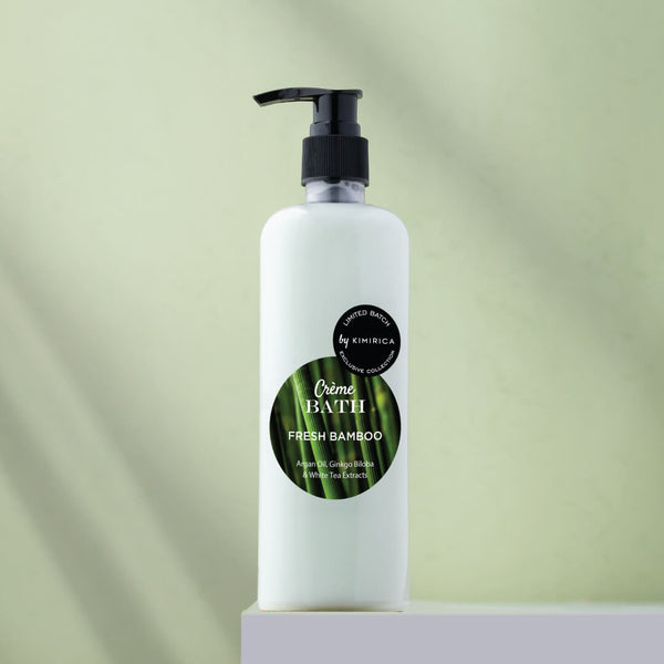 Fresh Bamboo creme bath with the goodness of the White Tea, Ginkgo Biloba, & Argan Oil by Kimirica